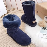 Ugg Popular Seller Of Casual Men's And Women's Suede Mid-range Boots Shoes