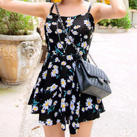 Daisy Print Mini Sundress