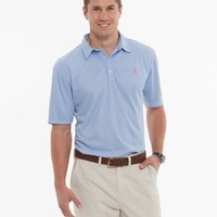 """THE BUNKER """"PREP-FORMANCE"""" STRIPED POLO"""