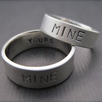 You're Mine I'm Yours Rings Sterling Silver Promise by erga
