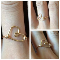 Heart Wire Wrap Ring