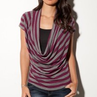 G by GUESS Mckenzie Cowl-Neck Top: Amazon.com: Clothing