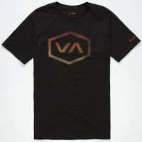 Rvca Halftone Hex Mens T-Shirt Black  In Sizes