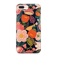 Beautiful Bright Peach and Orange Flowers Phone Case - Floral Pattern Phone Case - Summer Phone Case - iPhone 8 - Galaxy S9