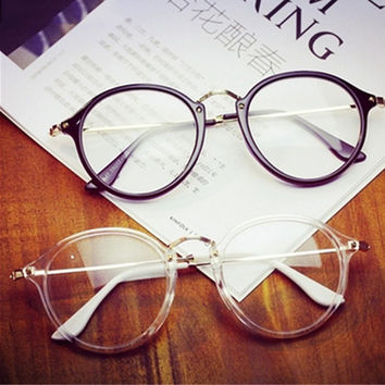 KOTTDO Women's Optical Retro Eye Glasses Frame For Women Eyewear Eyeglasses Vintage With Clear Lens Oculos Feminino Masculino