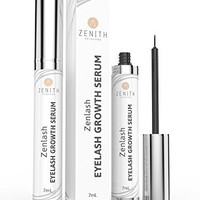 Biotin Infused Zenlash Eyelash Growth Serum, #1 Best Eyelash Serum Clinically Proven To Grow Visibly Thicker, Longer, Stronger, Fuller, Lashes And Brows In Weeks, Large 7ml Bottle
