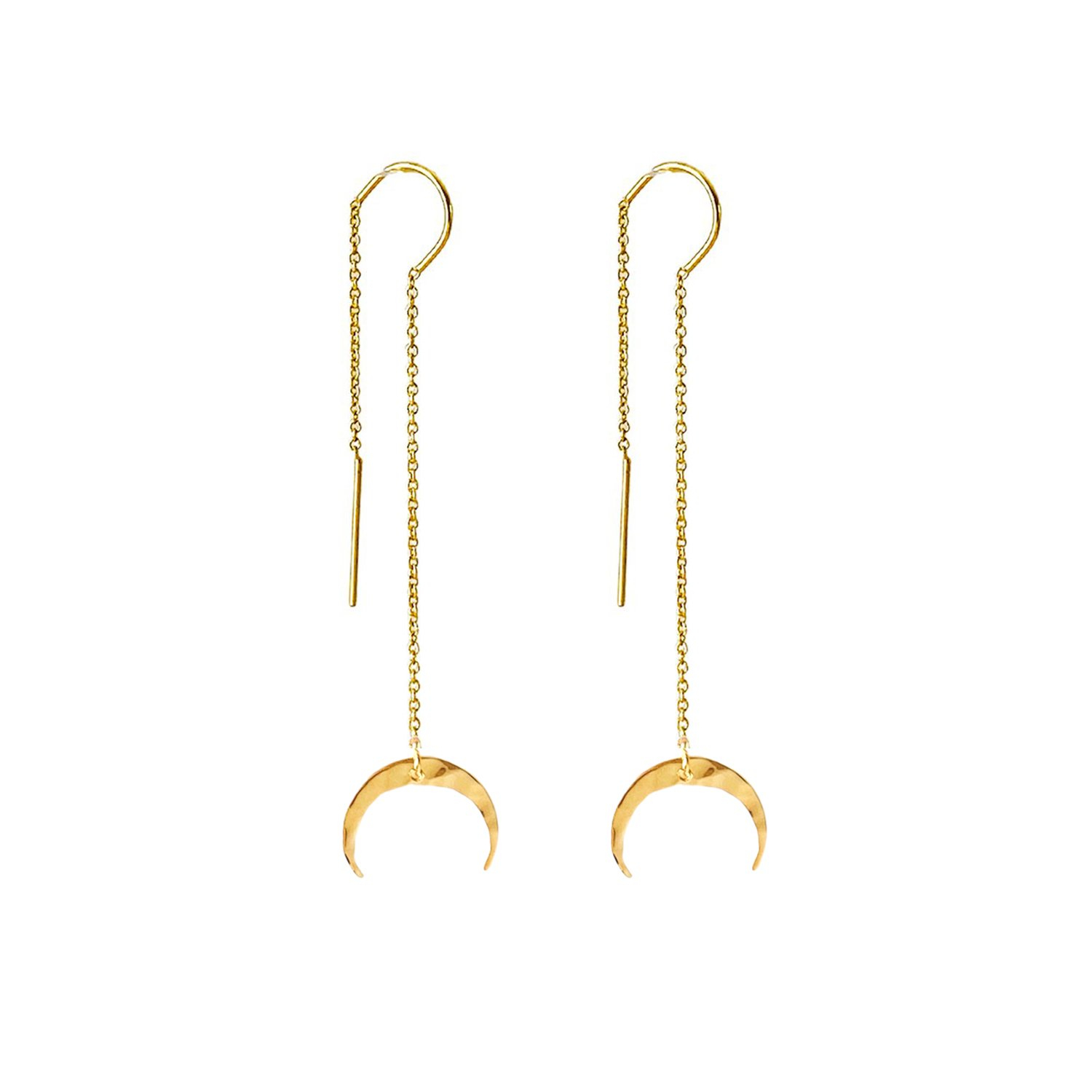Image of Crescent Moon Threader Earrings