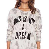 "Junk Food ""This Is Not A Dream"" Skyrocket Pullover in White"