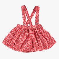 Imps and Elfs Girls Red Printed Jumper Dress - 2155022 - FINAL SALE