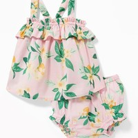 Ruffled Floral Tank & Bloomers Set for Baby|old-navy
