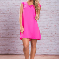 Fame On Fire Dress, Hot Pink