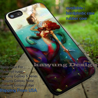 The Little Mermaid Ariel with Prince Eric Art iPhone 6s 6 6s+ 5c 5s Cases Samsung Galaxy s5 s6 Edge+ NOTE 5 4 3 #cartoon #disney #animated #theLittleMermaid dt