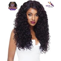 "SWISS X LACE FRONT FULL WIG - AMBER 26"" LONG NATURAL CURLY"