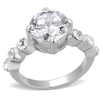 Mens Rings TK3247 Stainless Steel Ring with AAA Grade CZ