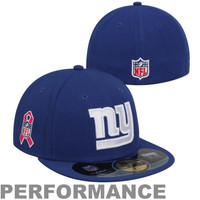 New Era New York Giants Breast Cancer Awareness On-Field 59FIFTY Fitted Performance Hat - Royal Blue
