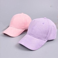 Soft solid and pastel colored baseball cap