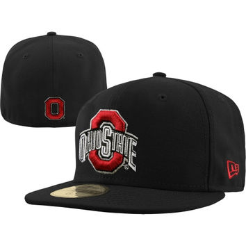 New Era Ohio State Buckeyes Black 59FIFTY Fitted Hat