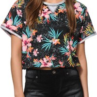 Love, Fire Floral Crop Top