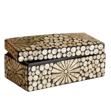 Golden Circles Mother of Pearl Box
