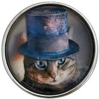 Steam Punk Cat Snap 20mm for Snap Charm Jewelry
