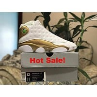 Air Jordan 13 Retro AJ13 Defining Moments White/Gold US 5.5-13