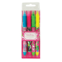 Lilly Pulitzer Pen with Highlighter Set   Lifeguard Press