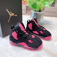 Air Jordan 7 Retro Black Pink Child Sneaker Toddler Kid Shoes