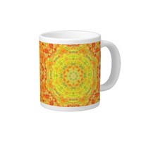 Yellow Orange Fusion Jumbo Mug