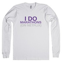 marathons-Unisex White T-Shirt