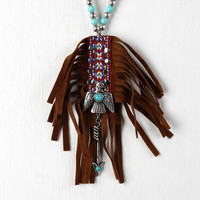 Arrow And Bird Tribal Pattern Necklace