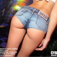 Women Jeans Nightclub Clubbing Party Sexy Erotic Trousers Short Pants _ 1073
