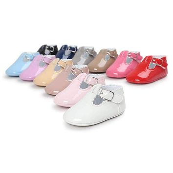 Baby Girls' Shiny Buckle Shoes