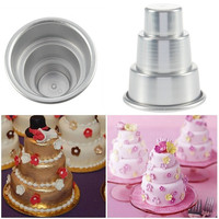 Mini 3-Tier Cupcake Pudding Chocolate Cake Mold Baking Pan Mould Party = 1931954692