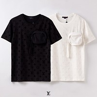LV New fashion monogram print couple top shirt