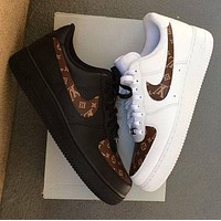 LV x Nike Air Force 1 low-top flat sneakers shoes