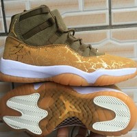 Air Jordan 11 Retro Neutral Olive/Sail-Gum Light Brown-Metallic Stout - Best Deal Online