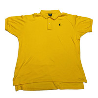 Vintage 90s Polo by Ralph Lauren Yellow Polo Shirt Made in USA Mens Size Large