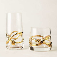 Glimmer-Wrapped Glassware by Anthropologie