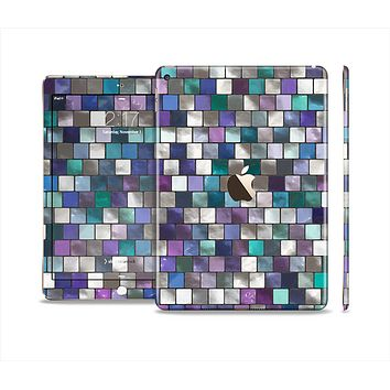 The Mosaic Purple and Green Vivid Tiles V4 Skin Set for the Apple iPad Air 2