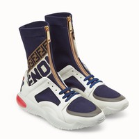 Fendi Spliced sports socks shoes