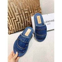 Balenciaga  Popular Summer Women's Flats Men Slipper LV Sandals Shoes