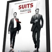 Suits (TV) 11 x 17 TV Poster - Style A - in Deluxe Wood Frame