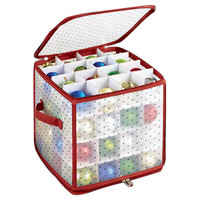 64-Count Ornament Storage Box, Storage Boxes & Bins
