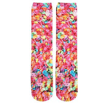 Fruity Pebbles Knee High Socks