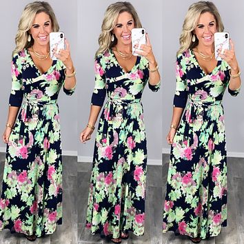 Here She Comes Maxi Dress