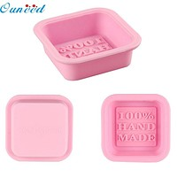 Home Wider Ouneed Voberry Cute Craft Art Square Silicone Oven Handmade Soap Molds DIY Soap Mold sep923 Drop Shipping