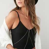 Layered Crisscross Body Chain