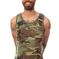 Rothco Tank Top Woodland in Olive Camo