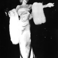 Marilyn Monroe in Gloves and Gown with Fur - 8x10 Photograph High Quality