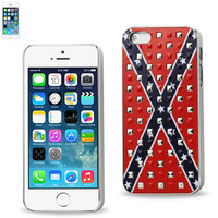 Reiko Plating rivets cover WITH CONFEDERATE FLAG PATTERN IPHONE5S